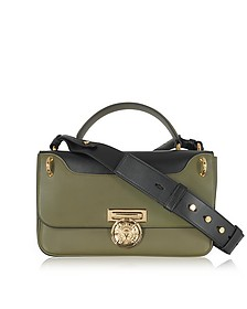 Renaissance 28 Glove Bicolore Kaki Leather Satchel Bag - Balmain