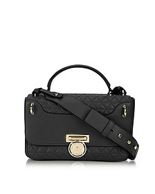 Renaissance 28 Glove Black Quilted Leather Satchel Bag - Balmain