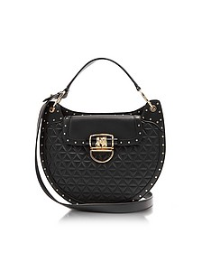 Balmain 44-30 Quilted Black Leather Shoulder Bag - Balmain