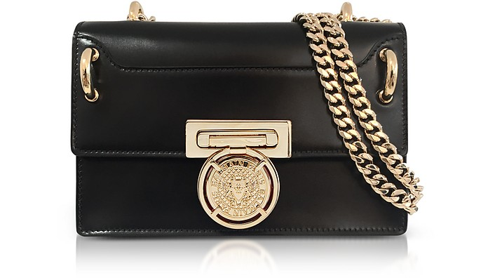 Glossy Black Leather BBox 20 Flap Bag - Balmain
