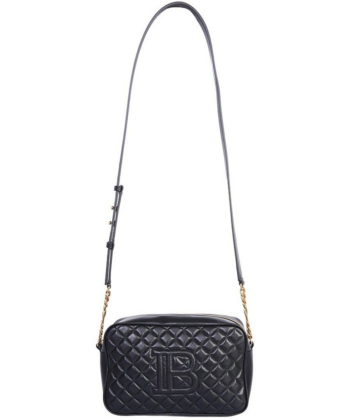Shoulder Bag With Logo - Balmain