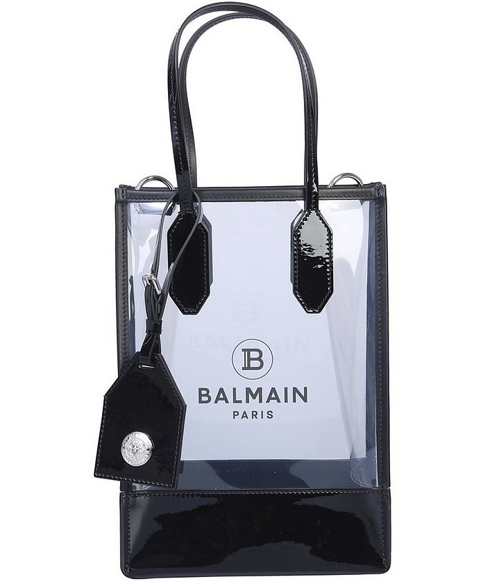 Transparent PVC Small Tote Bag - Balmain