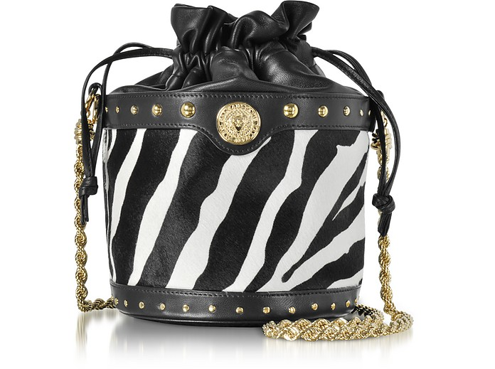 dba32929f10d Balmain Renaissance Pony Hair Leather Bucket Bag at FORZIERI Australia
