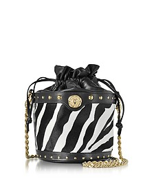 Renaissance Pony Hair Leather Bucket Bag - Balmain