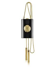 Renaissance Black Clutch w/Goldtone Logo - Balmain