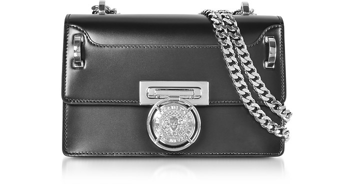 Black Smooth Leather BBox 20 Flap Shoulder Bag - Balmain