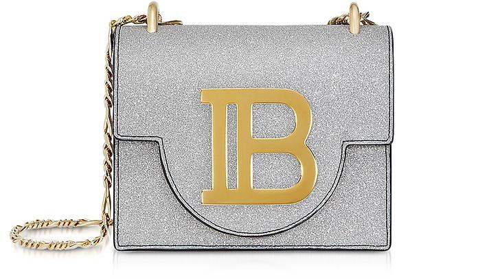 Silver Glitter B-Bag 18 - Balmain
