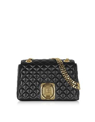45d0a4c440 Black Quilted Leather Shoulder Bag - Balmain