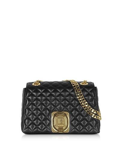 Black Quilted Leather Shoulder Bag - Balmain