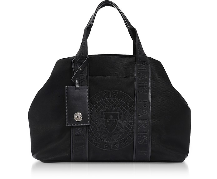 Black Nylon Men's Tote Bag - Balmain