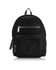 Black Nylon Men's Club Backpack w/Embossed Blazon - Balmain