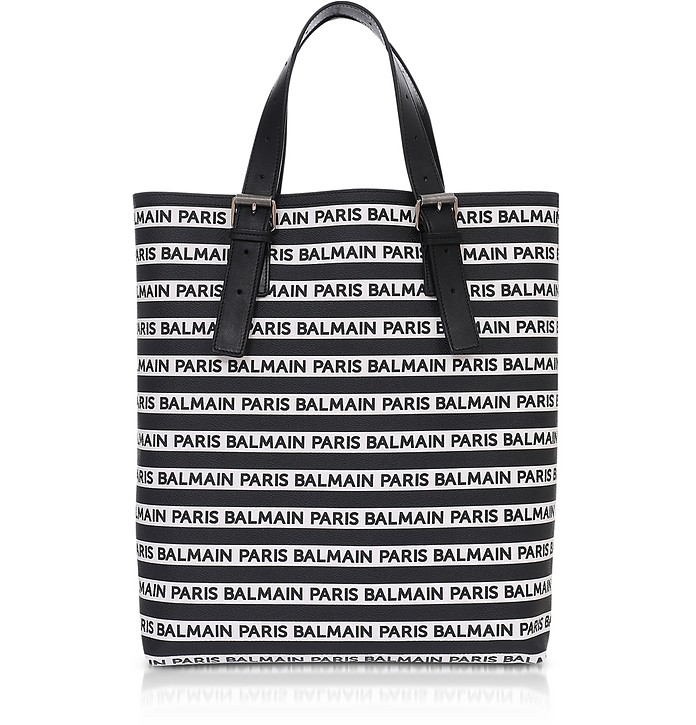 Chris-Toile Logo and Coin Men's Tote Bag - Balmain