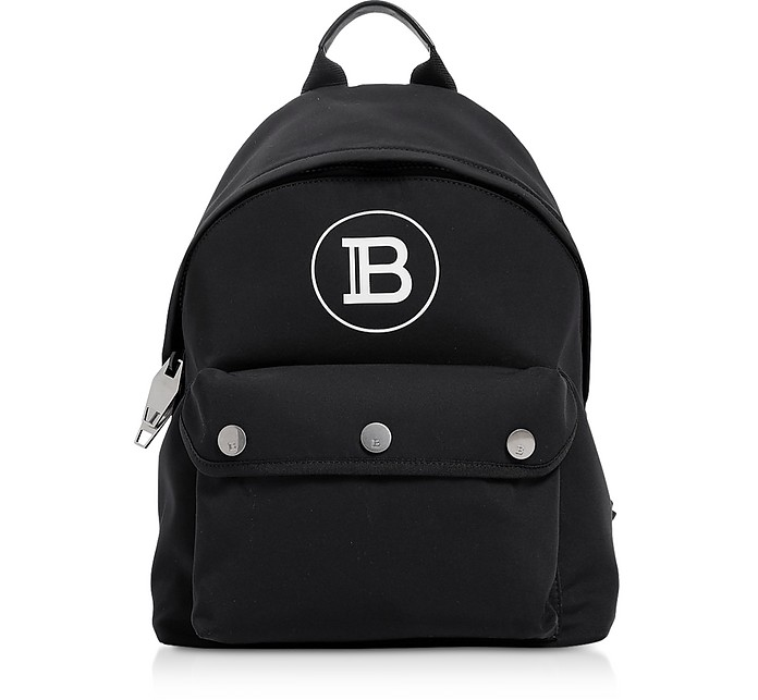 Black Nylon B-Backpack - Balmain