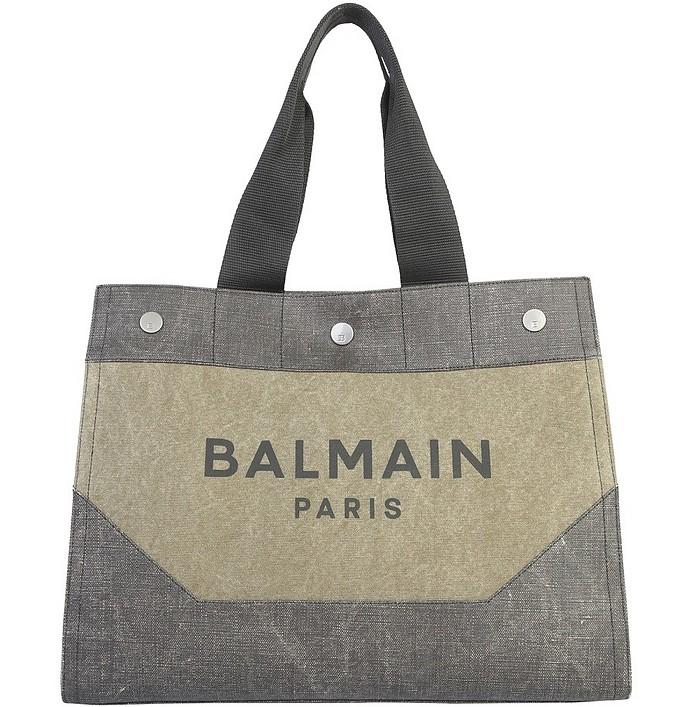 Shopper Bag With Logo - Balmain