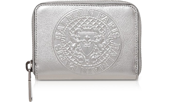 Signature Laminated Leather Coin Purse - Balmain
