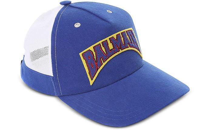 Cappello da Baseball in Cotone Blu Elettrico - Balmain