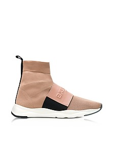 Powder Nylon and Leather Cameron Running Women's Sneakers - Balmain
