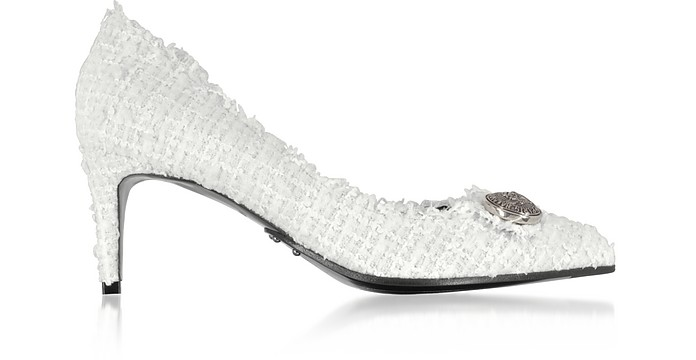 White Tweed 65MM Julie Pump - Balmain