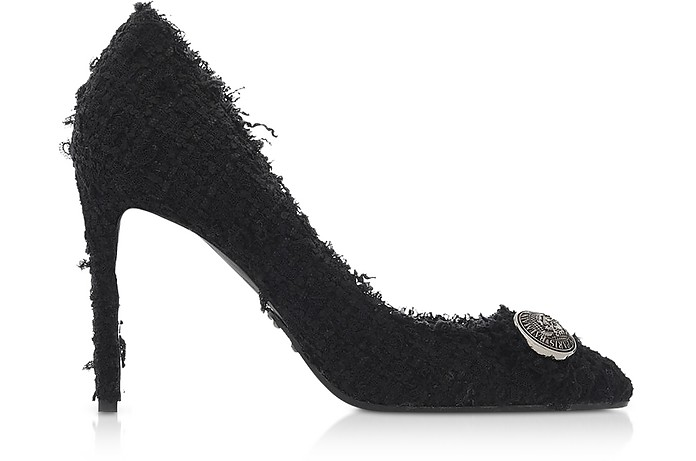 Black Tweed 95MM Julie Pump - Balmain