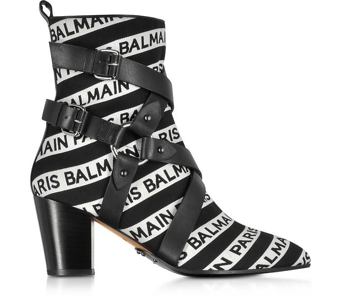 Stripe Signature Logo Jilly Boots - Balmain