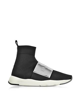 7729219b9 Black   Silver Cameron Knit Sock Sneakers - Balmain