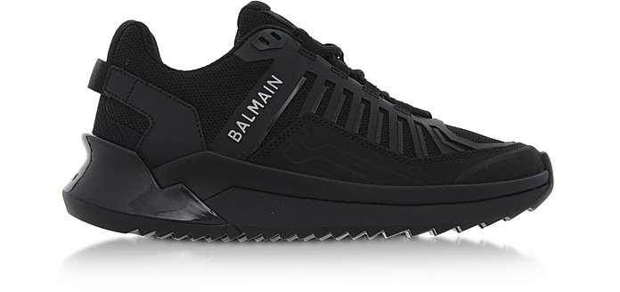 Black Neoprene Lace up Women's Sneakers - Balmain