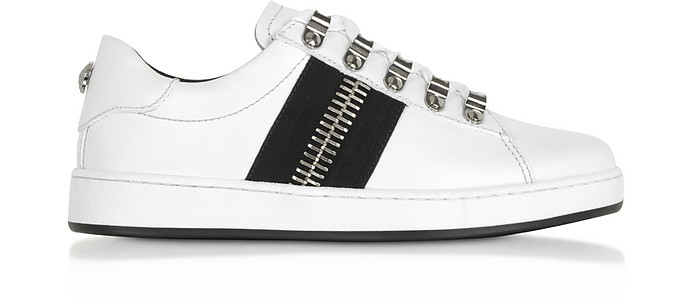 Esther White Leather Low-Top Sneakers - Balmain