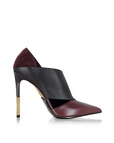 Audrey Burgundy Leather Pump - Balmain