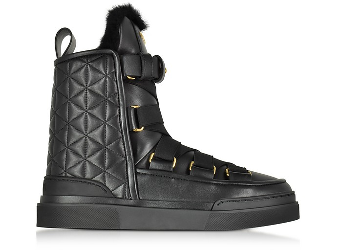 Apollonia Black Quilted Leather Boots - Balmain