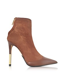 Blair Noisette Suede and Leather High Heel Booties - Balmain