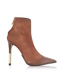 Blair Noisette 麂皮与皮革高跟短靴 - Balmain