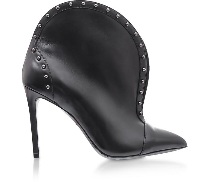 Iren Stiefeletten aus Leder in schwarz mit Nieten - Balmain
