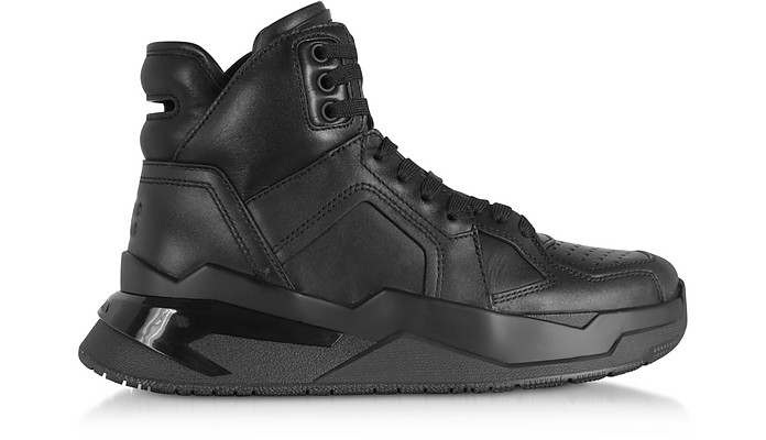 Black B-Ball Calfskin Leather Sneakers - Balmain