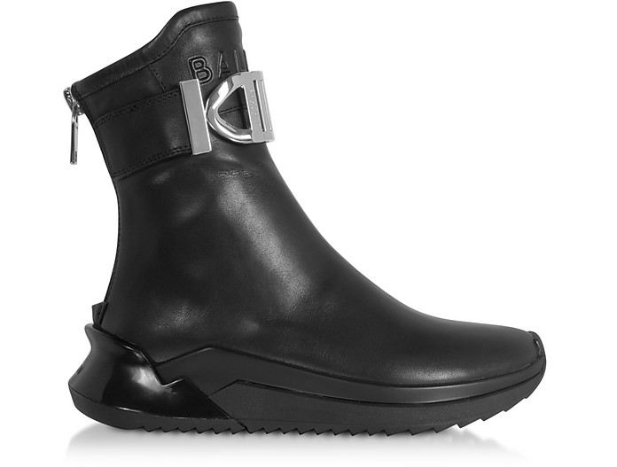 B-Glove Sneakers en Nappa Noire  - Balmain