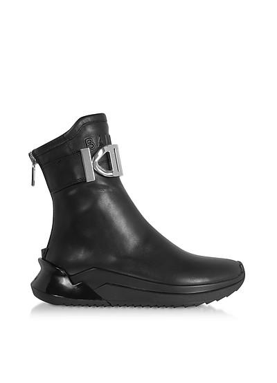 B-Glove - Черные Кроссовки из Кожи Наппа - Balmain