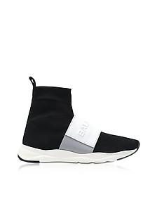 Cameron Running Sneakers da Uomo in Nylon e Pelle Black&White - Balmain