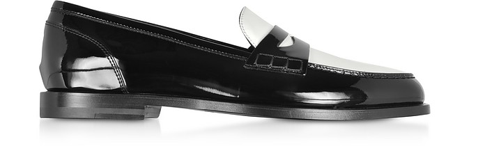 Kriss Patent Leather Loafer Shoes - Balmain
