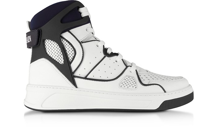 Keith Leather High Top Sneakers - Balmain