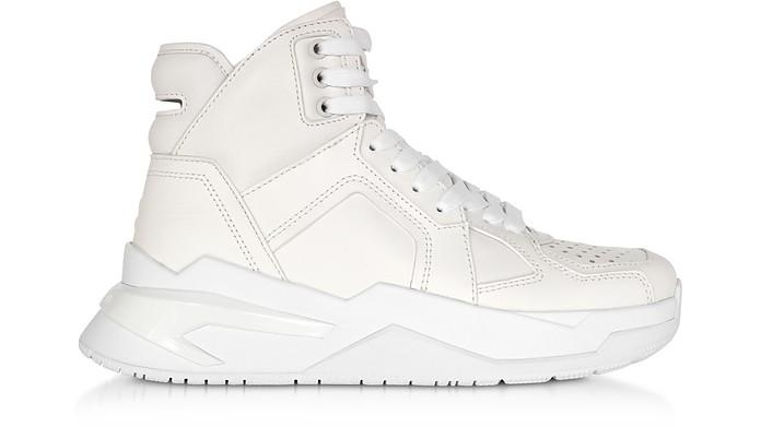 White High Top Men's B-Ball Sneakers - Balmain / バルマン