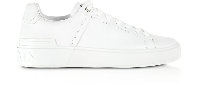 White Low  Top Men's B-Court Sneakers - Balmain