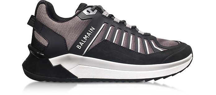 Black & Gray Low Top Men's B-Trail Sneakers - Balmain