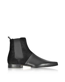 Artemis Leather and Suede Men's Ankle Boots - Balmain