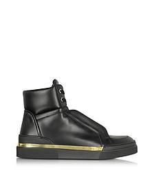 Atlas - Sneakers Montantes Homme en Cuir Noir - Balmain