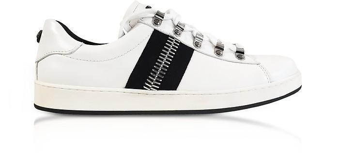 Eric White Leather Low-Top Sneakers - Balmain