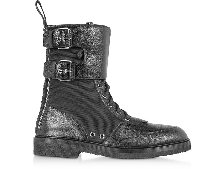 Leather & Nylon Maddox Ranger Boot - Balmain