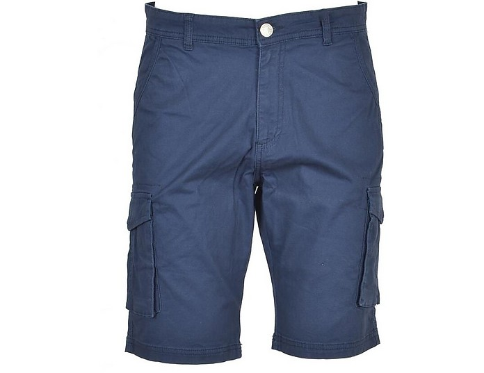 Men's Blue Bermuda Shorts - Basile 巴斯勒