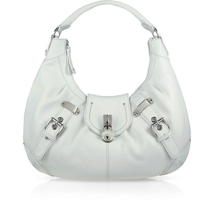 Large Pebble Leather Hobo Bag - Buti