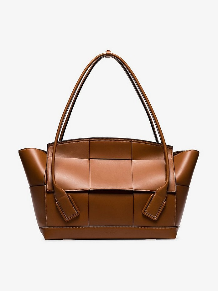 Brown Arc 56 leather tote bag - Bottega Veneta