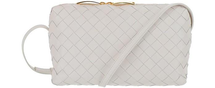 White Woven Leather Shoulder Bag - Bottega Veneta