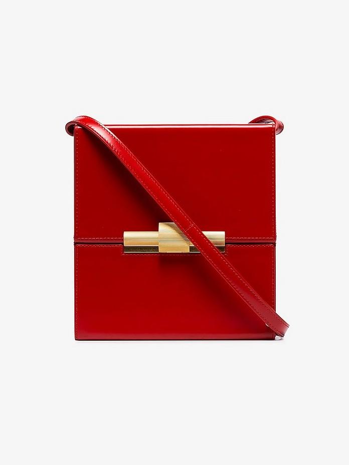 Red Leather cigarette cross body bag - Bottega Veneta